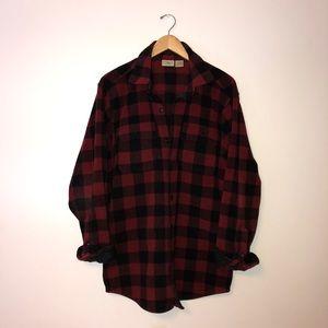 L.L. Bean Fleece Buffalo Plaid Shirt